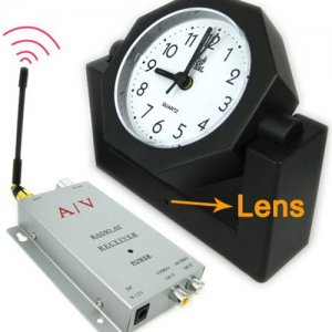 1.2Ghz Hidden Wireless Spy Camera And Transmitter Radio Clock